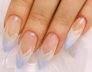 классический свадебный дизайн ногтей нейл-арт